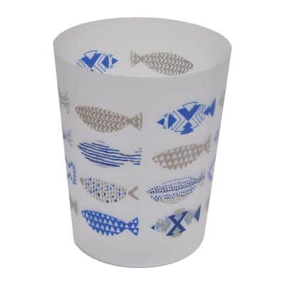 4.5 l/1.2 Gal. Printed Bath Trash Can Nautical Waste Bin