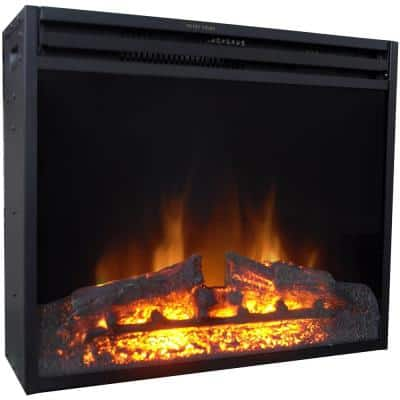 23 in. Freestanding 5116 BTU Electric Fireplace Insert with Remote Control