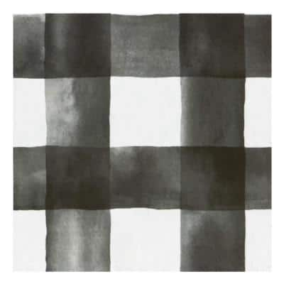 Retro 12 in. W x 12 in. L Watercolor Check Smoke/White Peel and Stick Vinyl Tile Flooring (20 sq. ft./case)