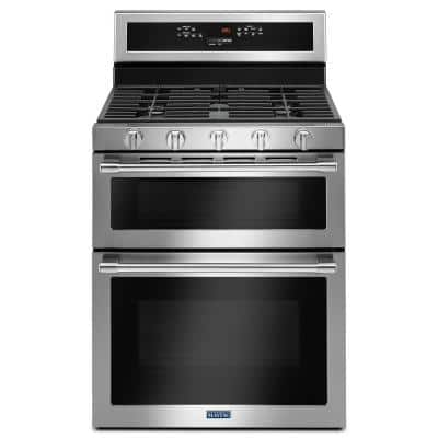6.0 cu. ft. Double Oven Gas Range with True Convection Oven in Fingerprint Resistant Stainless Steel