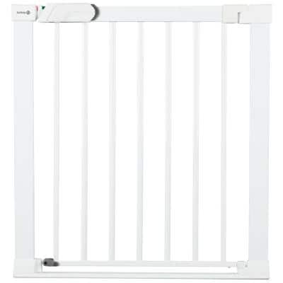Flat Step 30 in. H Pressure-Mounted Child Safety Gate in White