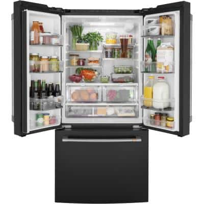 18.6 cu. ft. French Door Refrigerator in Matte Black, Fingerprint Resistant, Counter Depth and ENERGY STAR