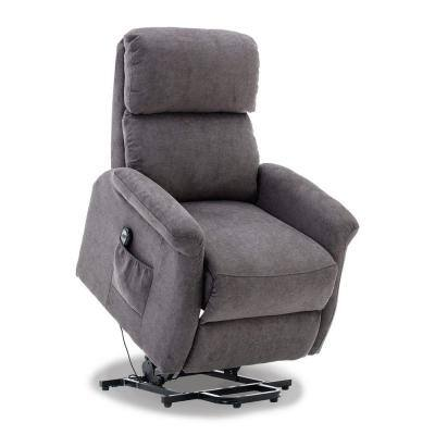 Gray Heavy Duty Power Lift Recliner Chair for Elderly 3-Position Soft Fabric Sofa