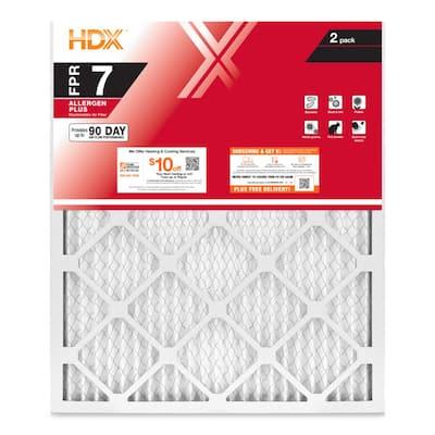 18 x 20 x 1 Allergen Plus Pleated Air Filter FPR 7 (2-Pack)