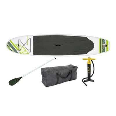 Inflatable Hydro Force Wave Edge 122 in. x 27 in. Stand Up Paddle Board, Green