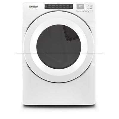 7.4 cu. ft. 120-Volt White Stackable Gas Vented Dryer with Intuitive Touch Controls
