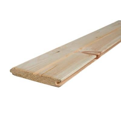 1 in. x 6 in. x 8 ft. Premium Tongue and Groove Pattern Whitewood Board