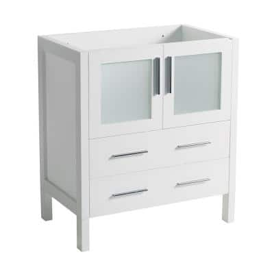 Torino 30 in. Modern Bathroom Vanity Cabinet Only in White