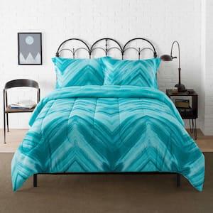 Linden 3-Piece Teal Diamond Full Comforter Set