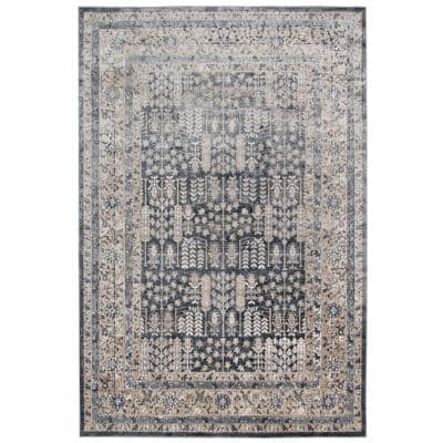 Amer Rugs Balpoma Liz Dark Gray Beige 7 Ft 11 In X 9 Ft 10 In Transitional Southwestern Polypropylene And Polyester Area Rug Blm3 711910ar The Home Depot