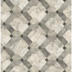 Ventura Devonshire Grey Marble Paper Strippable Wallpaper Roll (Covers 56.4 sq. ft.)