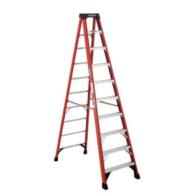 10 ft. Fiberglass Step Ladder (14 ft. Reach Height) 300 lbs. Load Capacity Type IA Duty Rating