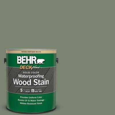 1 gal. #ICC-77 Sage Green Solid Color Waterproofing Exterior Wood Stain