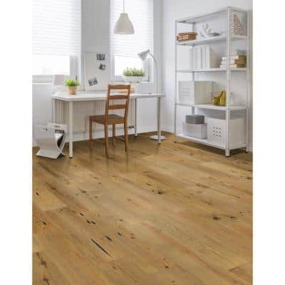 Wire-Brushed New Heart Pine 1/2 in. Thick x 7 in. Wide x Varying Length Engineered Hardwood Flooring (25.23 sq. ft.)