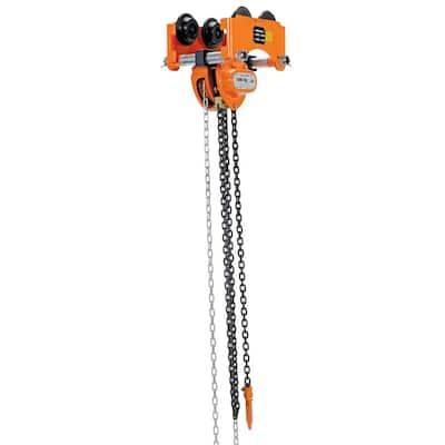 2000 lbs. Low Headroom Chain Hoist Trolley, Push