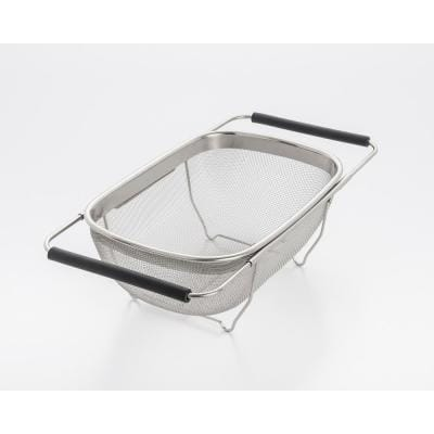 11 in. Over The Sink Mesh Strainer with Extendable Handles