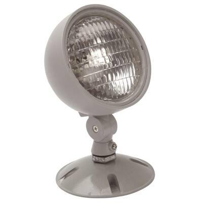 7.2-Watt Single Head Weatherproof Indoor/Outdoor Emergency Remote Lamp Fixture
