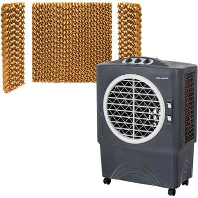 1062 CFM 3-Speed Portable Evaporative Air Cooler for 610 sq. ft. with Bonus Filter