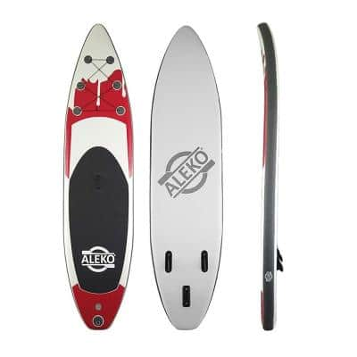 11 ft. Red Inflatable Paddle Board with Carry Bag