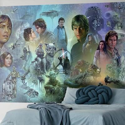 Star Wars Original Trilogy Blue, Purple Vinyl Peelable Roll (Covers 63 sq. ft.)