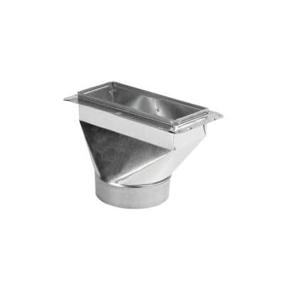 12 in. x 6 in. to 6 in. Universal Register Box with Flange