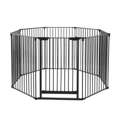 8-Panel 28.7 in. W x 40 in. H Exercise Playpen
