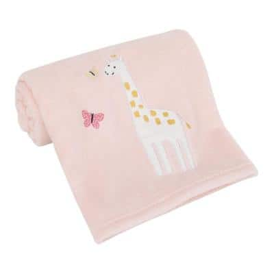Pretty Pink Giraffes Super Soft Pink Giraffe Baby Blanket (Polyester)