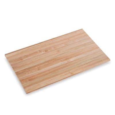 Finished Maple 5 ft. L x 36 in. D x 1.75 in. T Butcher Block Island Countertop with Eased Edge