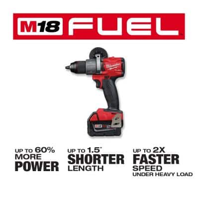 M18 FUEL 18-Volt Lithium-Ion Brushless Cordless Hammer Drill/Impact Driver/Grinder (3-Tool) with (4) 5.0 Ah Batteries