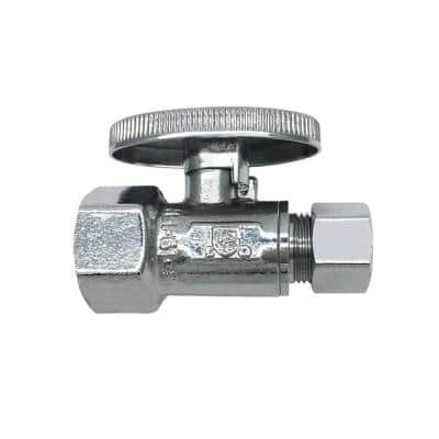 1/2 in. FIP Inlet x 3/8 in. O.D. Compression Outlet Quarter-Turn Straight Valve