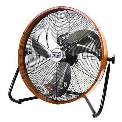 20 in. 3-Speed Shroud Floor Fan with Orange Housing