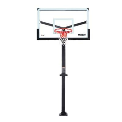60 in. Tempered Glass Mammoth Bolt Down Basketball Hoop