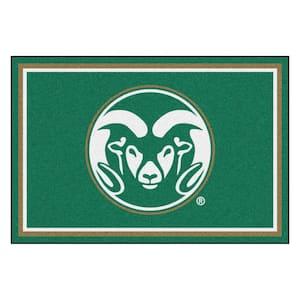NCAA - Colorado State University Green 8 ft. x 5 ft. Indoor Area Rug