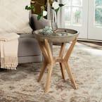 Celeste Dark Gray Round Wood Indoor/Outdoor Side Table
