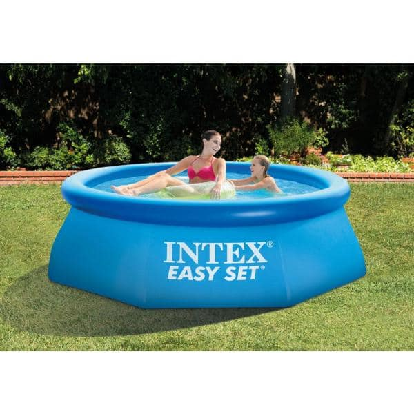 Intex 8 Ft X 30 In Easy Set Inflatable Pool With 330 Gph Pump And 6 Cartridges 28110eh 28601eg 6 X 29007e The Home Depot