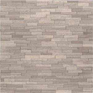 White Oak 3D Mini Ledger Panel 4.5 in. x 16 in. Honed Marble Wall Tile (5 sq. ft./case)