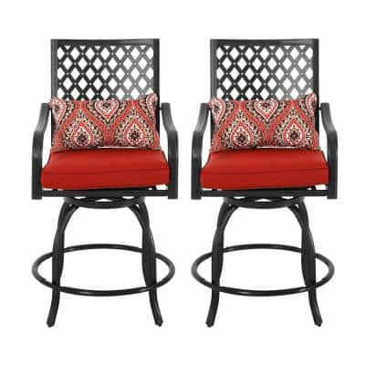 Rust Resistant Outdoor Bar Stools, Patio Furniture Bar Height Chairs