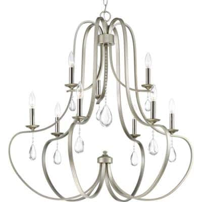 Anjoux Collection 9-Light Silver Ridge Chandelier