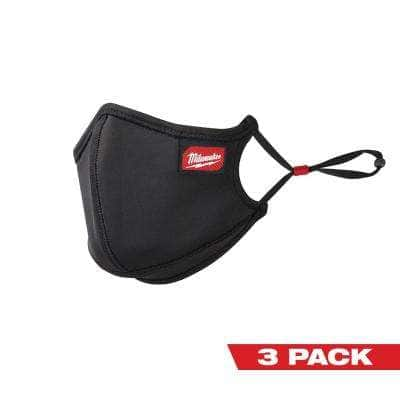 Large/X-Large Black 3-Layer Reusable Performance Face Mask (3-Pack)