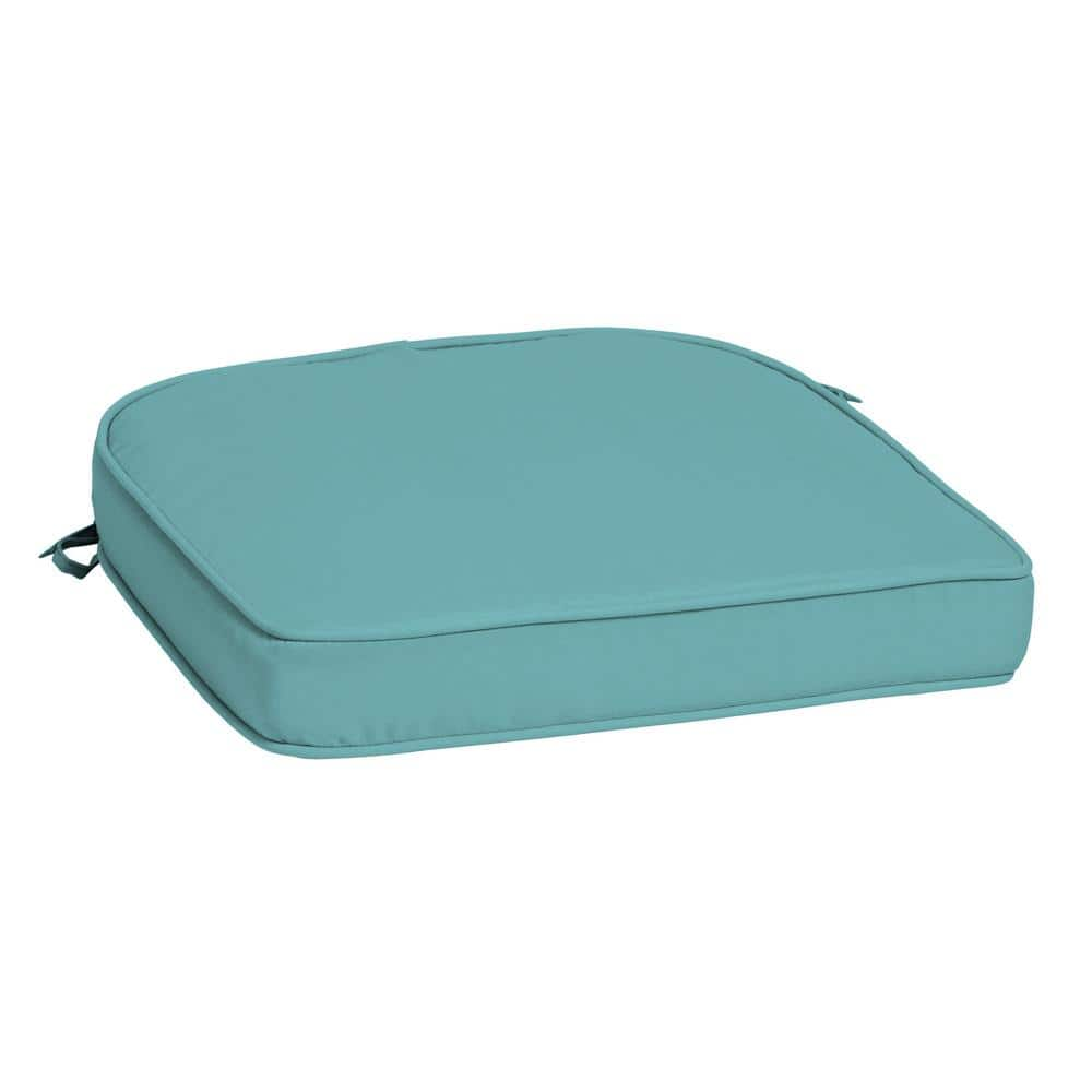 Arden Selections Profoam Surf Acrylic Rounded Rectangle Outdoor Chair Cushion Ah0zf01b Dkz1 The Home Depot