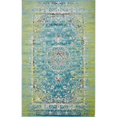 Imperial Sultan Blue 5' 0 x 8' 0 Area Rug