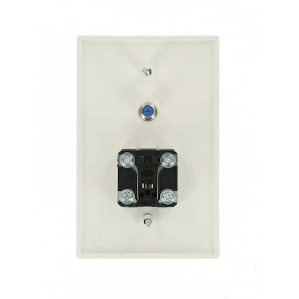 Leviton White 1 Gang Audio Wall Plate, Leviton Phone Jack Wiring Diagram