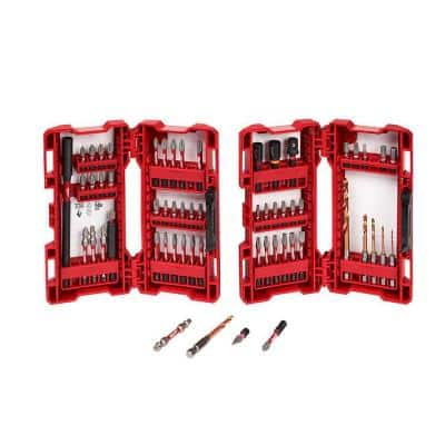 SHOCKWAVE Impact Duty Drill and Alloy Steel Screw Driver Bit Set (60-Piece)