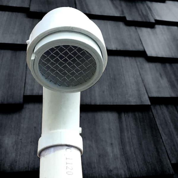 3 in Vent Cap Steel Weather Cover Provide protection Against Rain Snow Debris