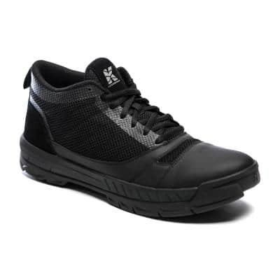 Men's Lightweight Breathable Mesh Water-Resistant Yard Work Shoe - Soft Toe - Black Size 11(M)