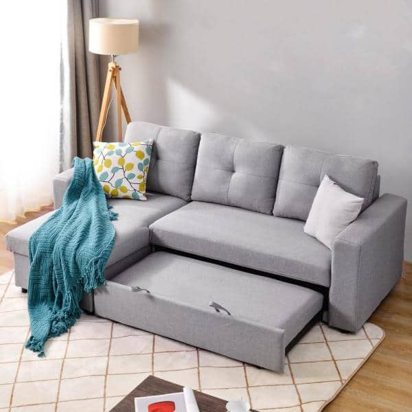 Magic Home 90 In Reversible Pull Out, Sofa Bed L Shaped Couch
