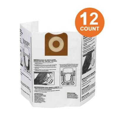 High-Efficiency Size A Dust Bags for 12 gal. to 16 gal. RIDGID Wet/Dry Vacs (12-Pack)