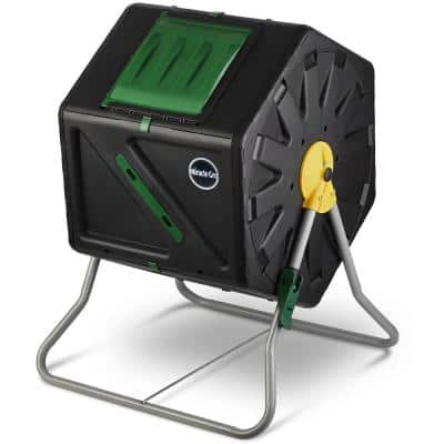 Compact Design 27.7 Gal. (105 l) Single Chamber Tumbling Composter Outdoor Bin - Large Volume