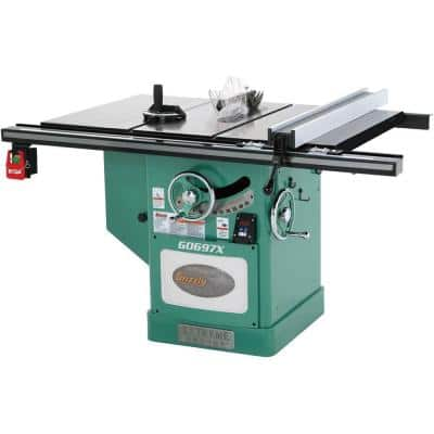 12 in. 7-1/2 HP 3-Phase Extreme Series Left-Tilt Table Saw