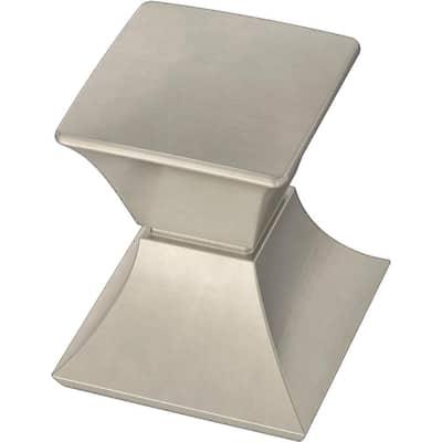 Modern Luxe 1-1/16 in. (27 mm) Satin Nickel Cabinet Knob